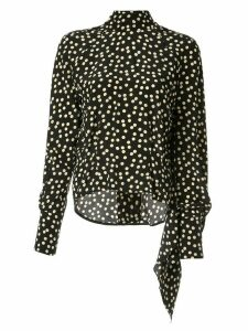 Petar Petrov Becke polka dot open back blouse - Black