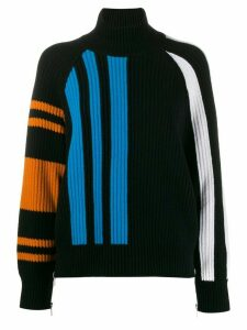 MRZ ribbed zipped jumper - Black