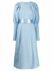 ROTATE puffer-sleeve lace dress - Blue