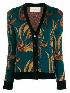 La Doublej patterned cardigan - Blue