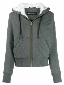 Moose Knuckles zip up hoodie - Grey