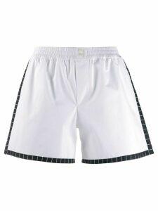 Dolce & Gabbana Underwear poplin elasticated mini shorts - White