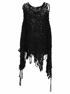 Hyein Seo distressed oversize jumper - Black