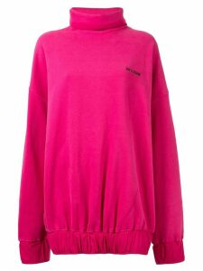 We11done oversized mock neck sweatshirt - PINK