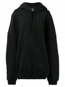 We11done slogan oversized hoodie - Black