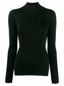 Helmut Lang striped roll neck sweater - Black
