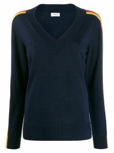 Akris Punto side stripe relaxed-fit jumper - Blue