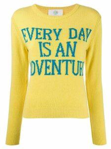 Alberta Ferretti cashmere slogan jumper - Yellow