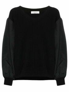 Valentino balloon-sleeve knit jumper - Black
