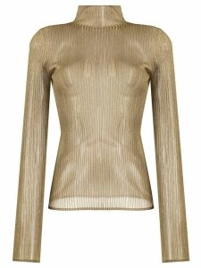 Vince ribbed knitted top - GOLD