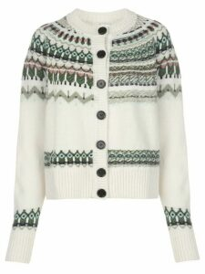M Missoni instarsia knitted cardigan - White