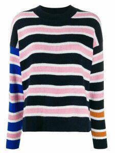 Christian Wijnants stripe long-sleeve jumper - Blue