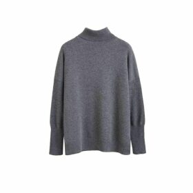 Chinti & Parker Grey Cashmere Rollneck Sweater