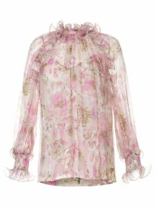 Zimmermann Super Eight ruffled floral print blouse - PINK