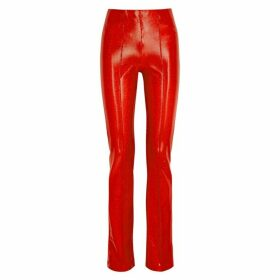 Saks Potts Lissi Metallic Red Stretch-jersey Trousers