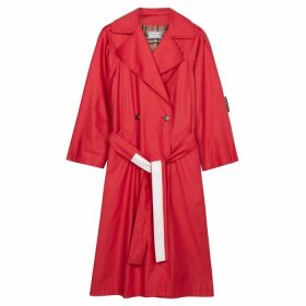 1/OFF Paris Burberry Red Belted Trench Coat