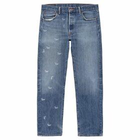 1/OFF Paris Levi's 501 Blue Logo-print Jeans