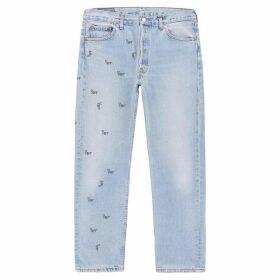 1/OFF Paris Levi's 501 Pale Blue Logo-print Jeans