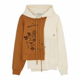 MONSE Printed Panelled Cotton-blend Sweatshirt