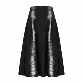 MSGM Monochome Tie-dyed Poplin Midi Skirt