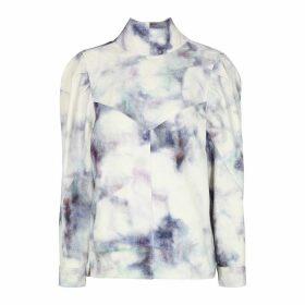 Isabel Marant Espera Tie-dyed Denim Top