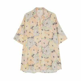 American Vintage Belabay Floral-print Shirt