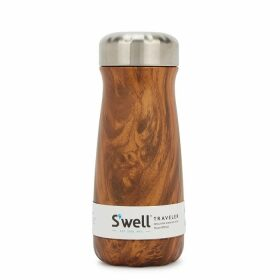 S'well Teakwood Traveler Stainless Steel Thermos 470ml