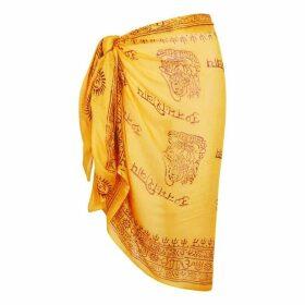 Gimaguas Om Yellow Printed Sarong