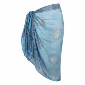 Gimaguas Om Light Blue Printed Sarong