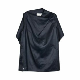 3.1 Phillip Lim Navy Cape-effect Satin Top