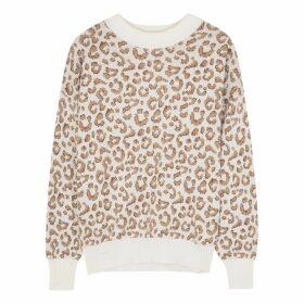 Varley Hermosa Leopard-intarsia Knitted Jumper