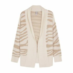 Varley Camrose Zebra-intarsia Wool-blend Cardigan