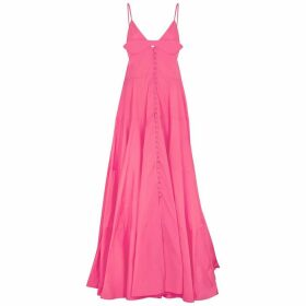 Jacquemus La Robe Manosque Pink Georgette Maxi Dress