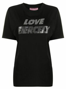 Chiara Ferragni round neck Love Fiercely T-shirt - Black