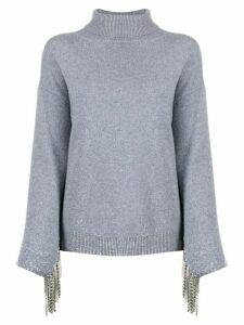 Christopher Kane cashmere embellished sleeve jumper - Grey