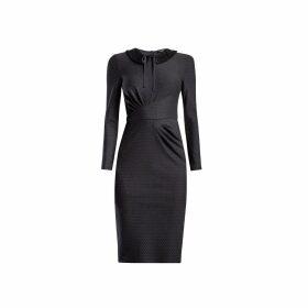 UNDRESS - Dysania Light Blue Pleated Linen Midi Shirt Dress