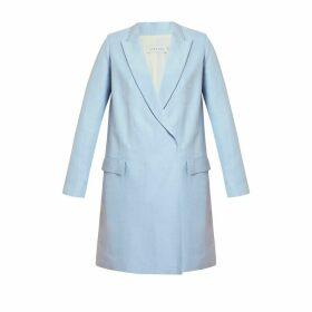 UNDRESS - Namya Light Blue Double Breasted Linen Blazer Dress
