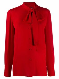 Valentino pussy-bow buttoned blouse - Red