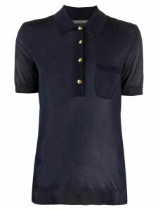 Alberta Ferretti fine knit polo shirt - Blue