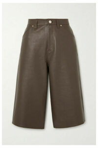 GOLDSIGN - Leather Shorts - Green
