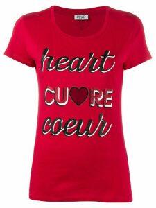 LIU JO short sleeve slogan print T-shirt - Red