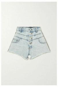 AMIRI - Jacquard-trimmed Denim Shorts - Indigo
