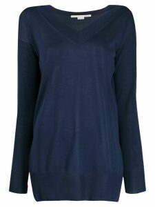 Stella McCartney side slits knitted top - Blue