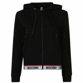 Moschino Logo Band Hooded Zip Sweatshirt