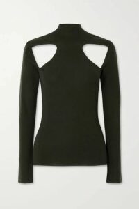 Dion Lee - Cutout Merino Wool Turtleneck Sweater - Dark green