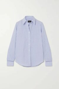 Emma Willis - Gingham Cotton And Linen-blend Shirt - Navy