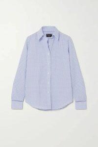 Emma Willis - Gingham Cotton And Linen-blend Shirt - Navy