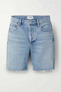 AGOLDE - Rumi Frayed Denim Shorts - Blue