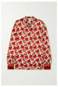 Raquel Diniz - Savannah Floral-print Silk-satin Blouse - Red