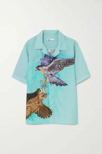 GmbH - + Net Sustain Luka Printed Lyocell And Cotton-blend Shirt - Blue